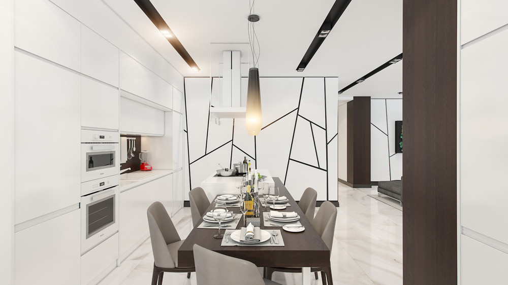 Creative Wall Treatment - 4 beautiful homes with a white theme