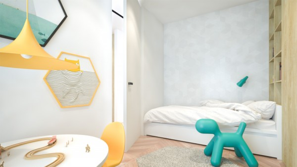 Superior ... Creative Interiors That Utilize Bright Accents Chevron Wood Flooring ·  Again, Kids Rooms Give The Opportunity For Even More Color, Here With  Yellow And