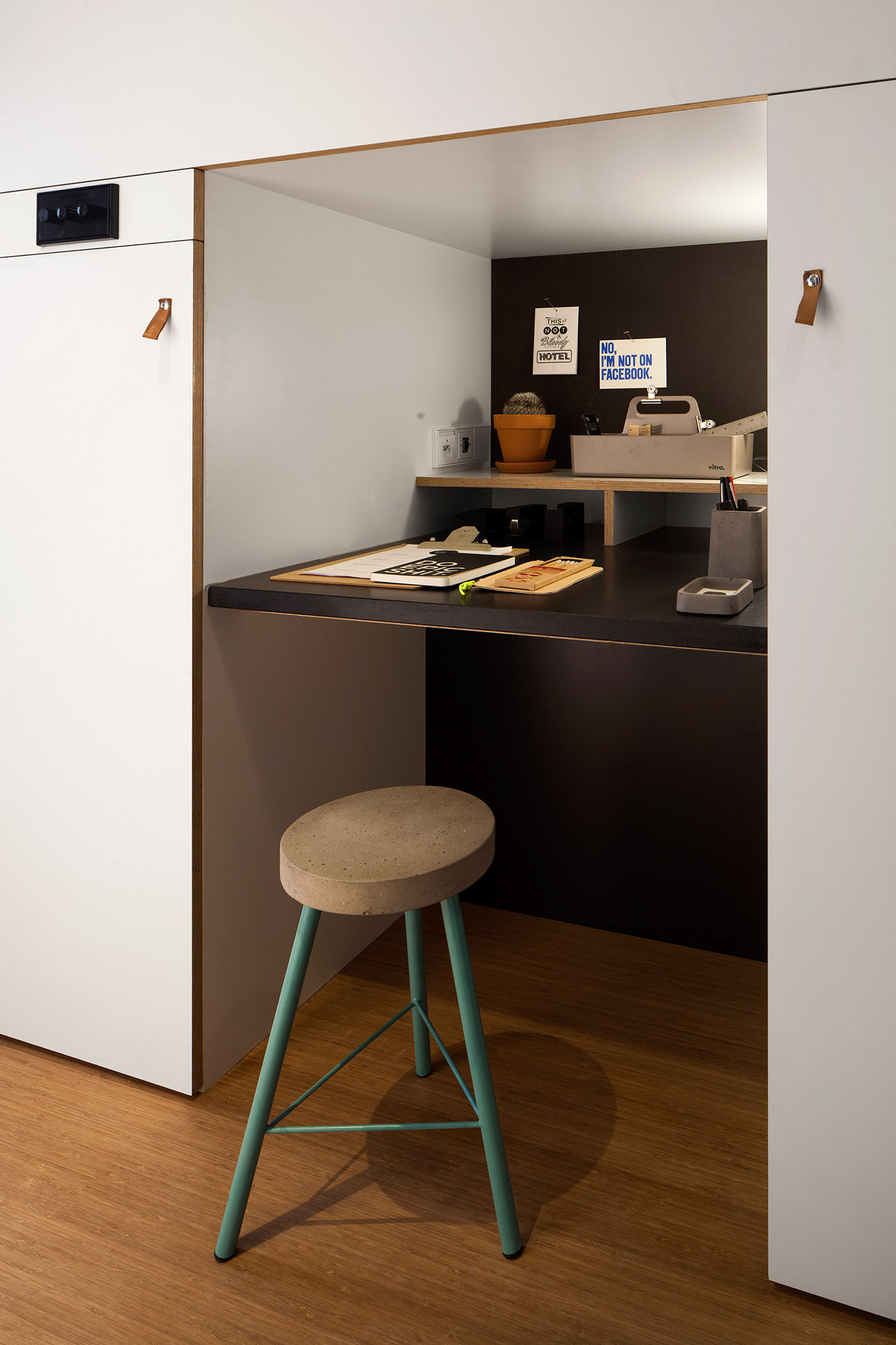 Cute Work Nook - 4 awesome small studio apartments with lofted beds