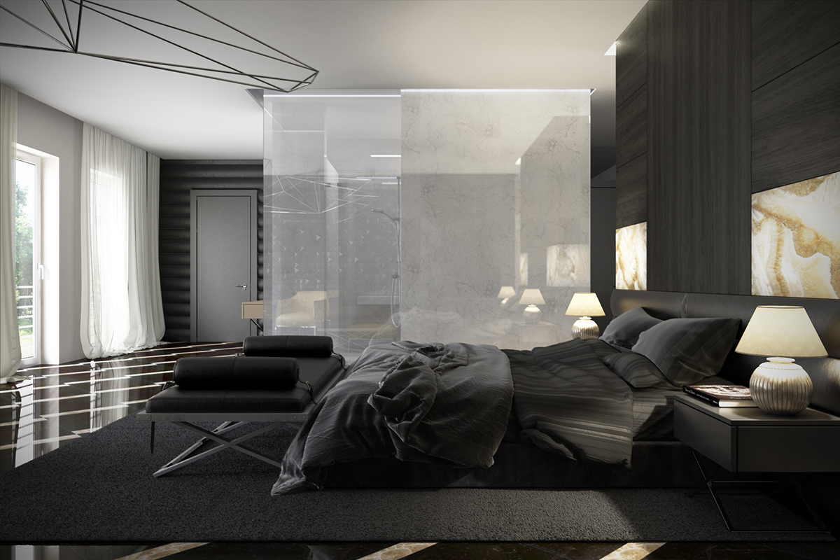 dark-bedroom-design | Interior Design Ideas.