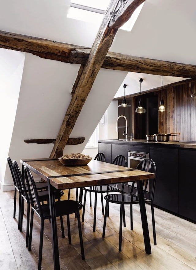 Dining Room Design - 2 small and cute french apartments under 50 square meters
