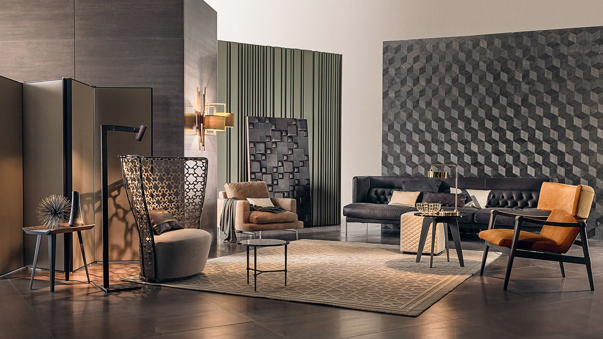 Wall texture designs for the living room ideas inspiration for Living room designs 3d