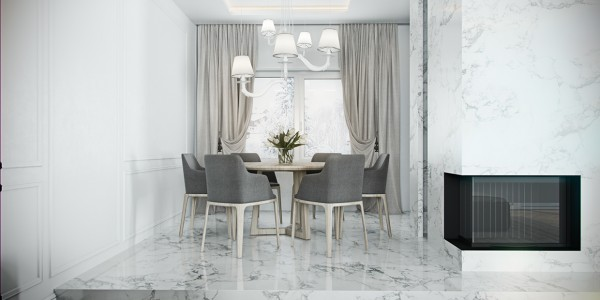 Nice Elegant Dining Room 4 Beautiful Homes With A White Theme Elegant Dining Room