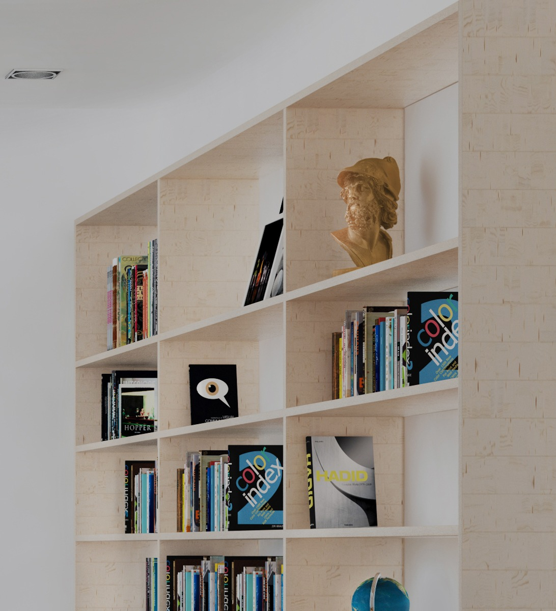 Floor To Ceiling Bookshelf - 3 beautiful scandinavian style interiors