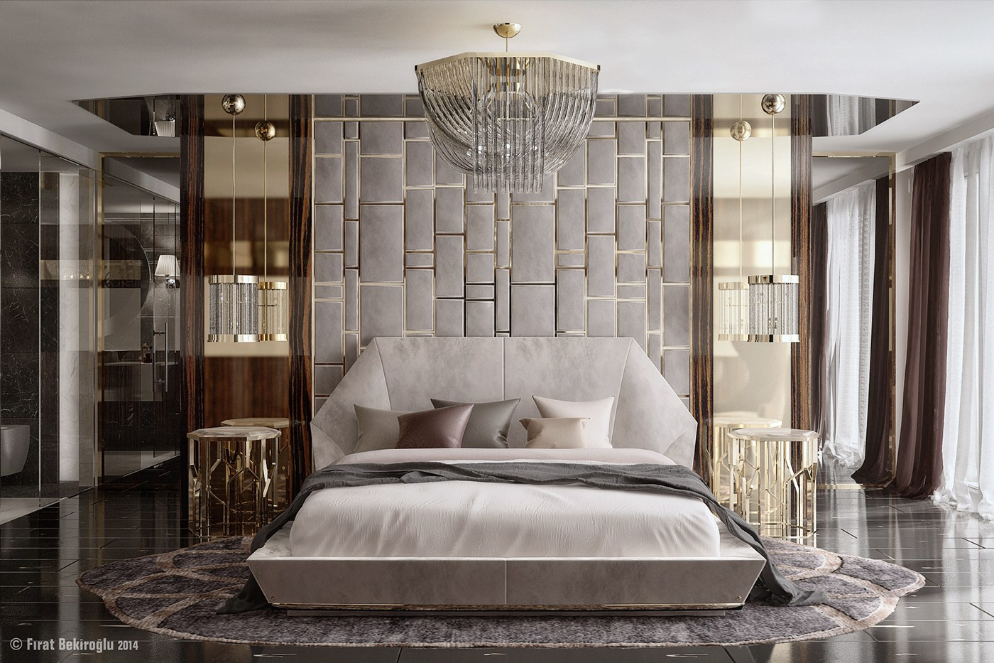 7 stylish bedrooms with lots of detail for Glamorous bedroom pictures