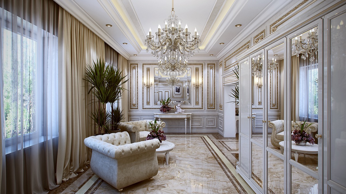 5 luxurious interiors inspired by louis era french design for Home design ideas hallway