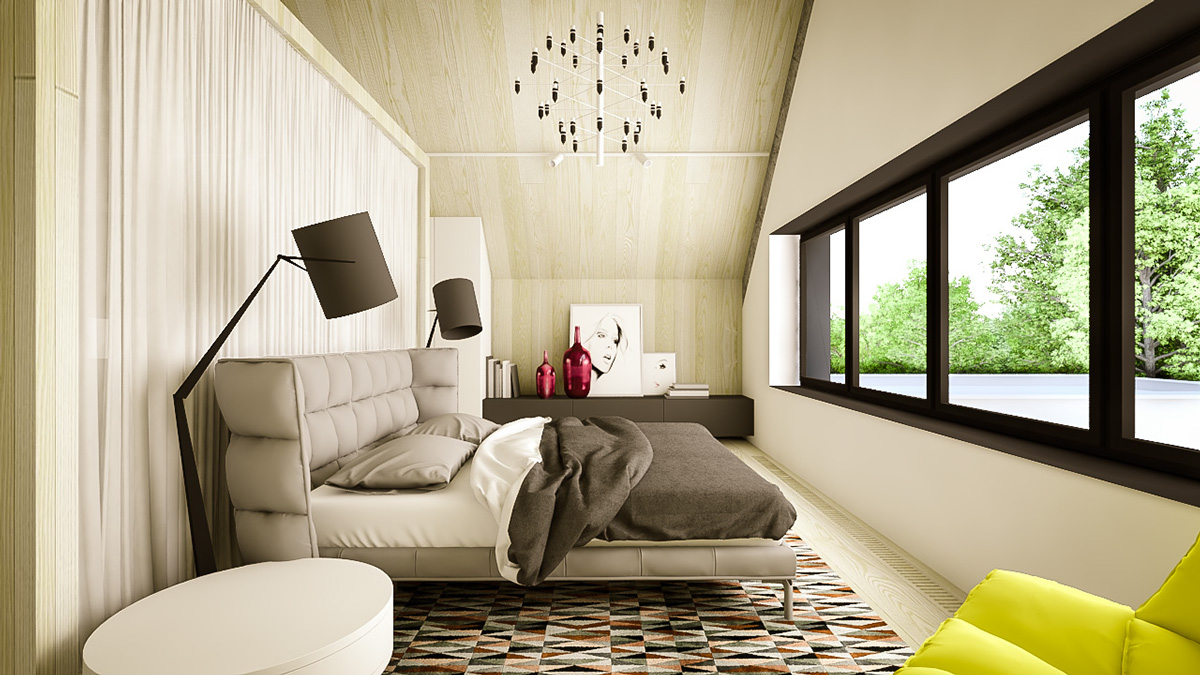 Hip Bedroom Design - 3 creative interiors that utilize bright accents