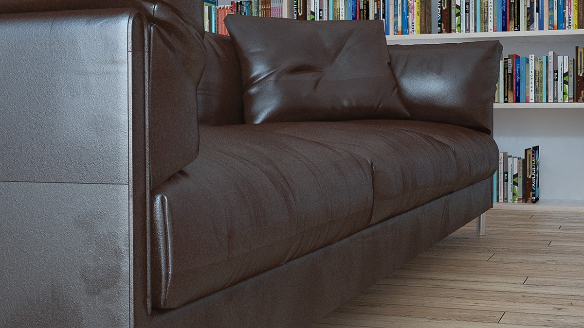 Leather Sofa - 3 beautiful scandinavian style interiors