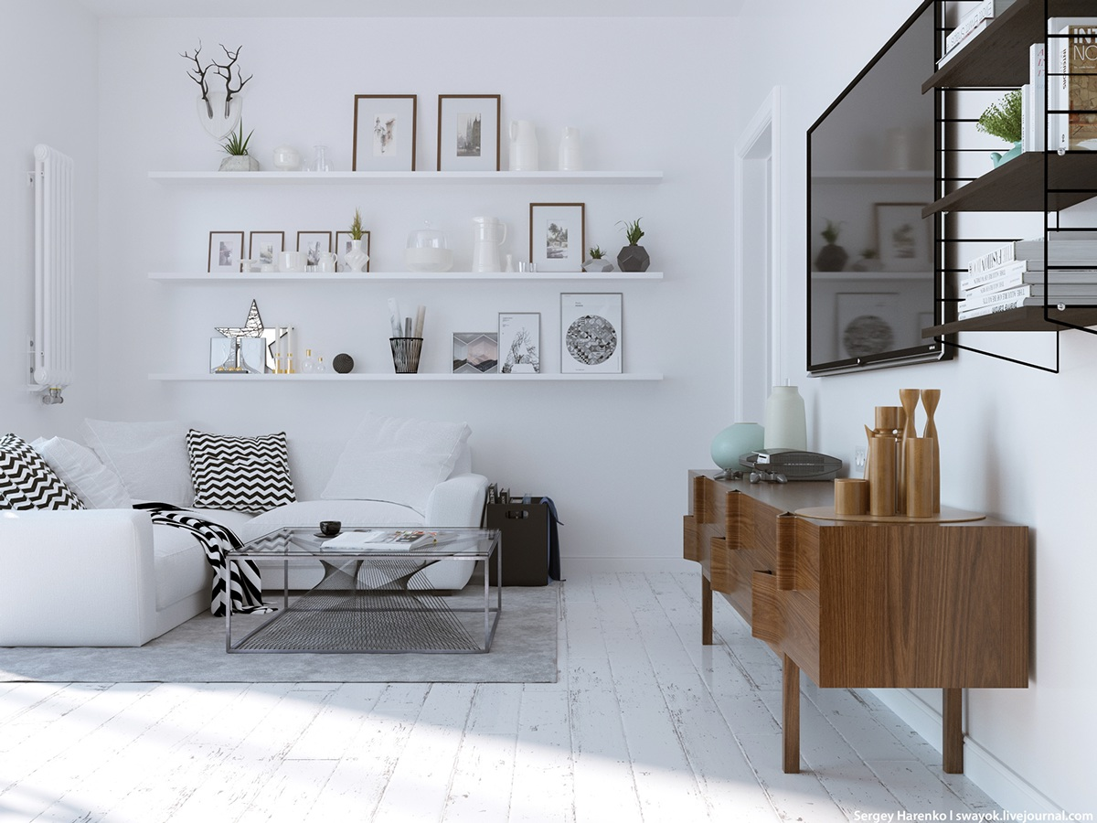 3 beautiful scandinavian style interiors for Interior design styles wood