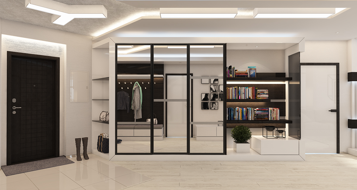Mirrored Closet - 4 beautiful homes with a white theme