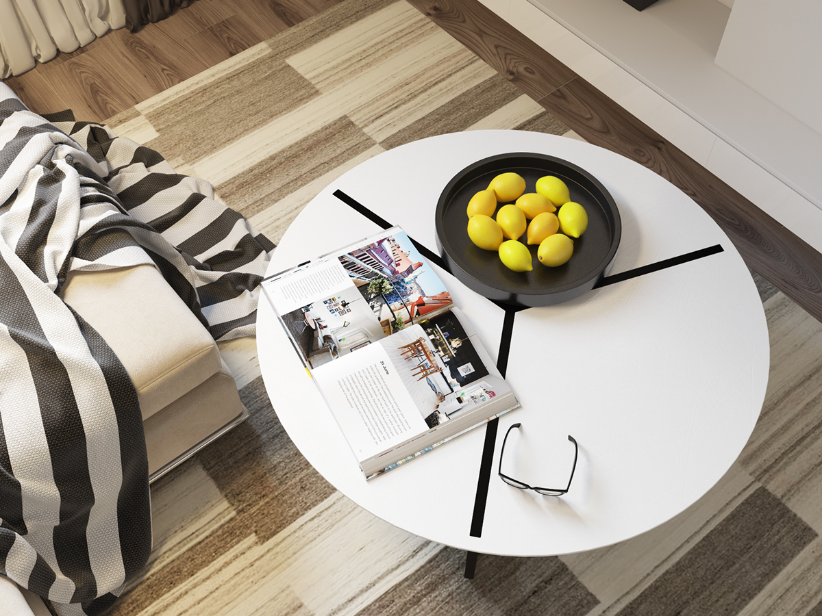 Modern Coffee Table - 4 beautiful homes with a white theme