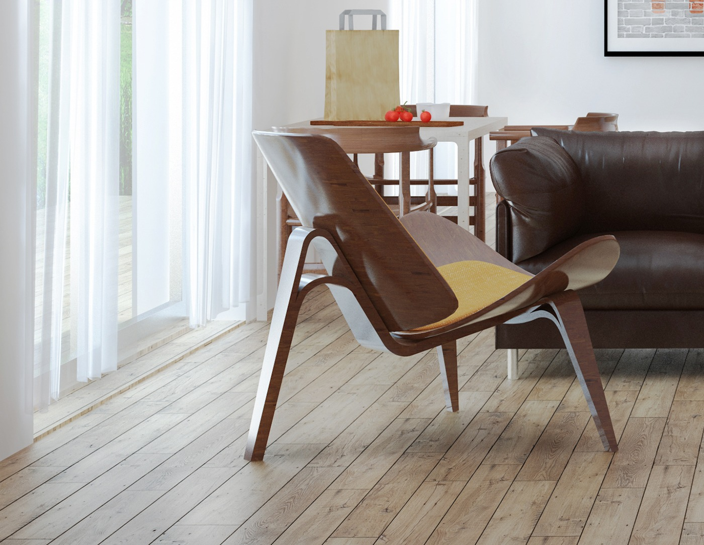 Molded Wood Chair - 3 beautiful scandinavian style interiors