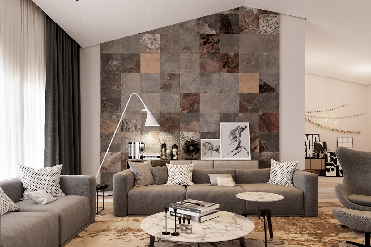 wall tile ideas for living rooms