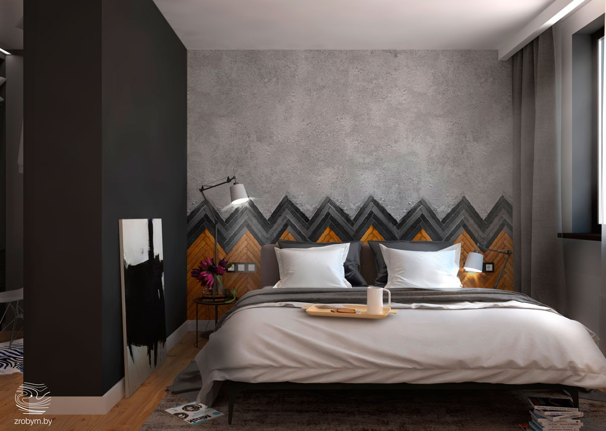 Bedroom wall textures ideas inspiration for Bed wall design