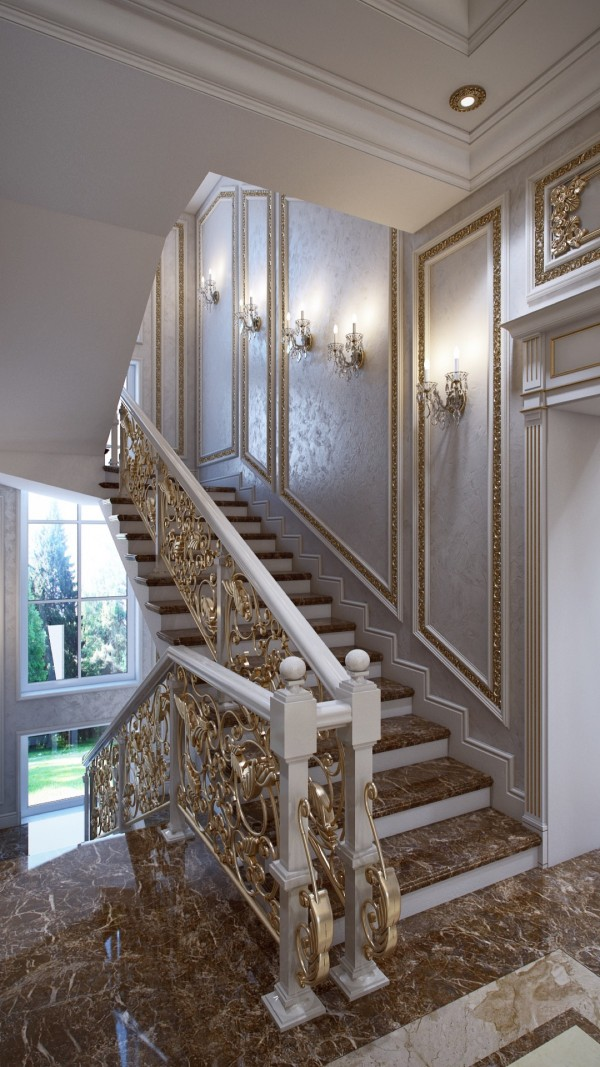 scrollwork staircase