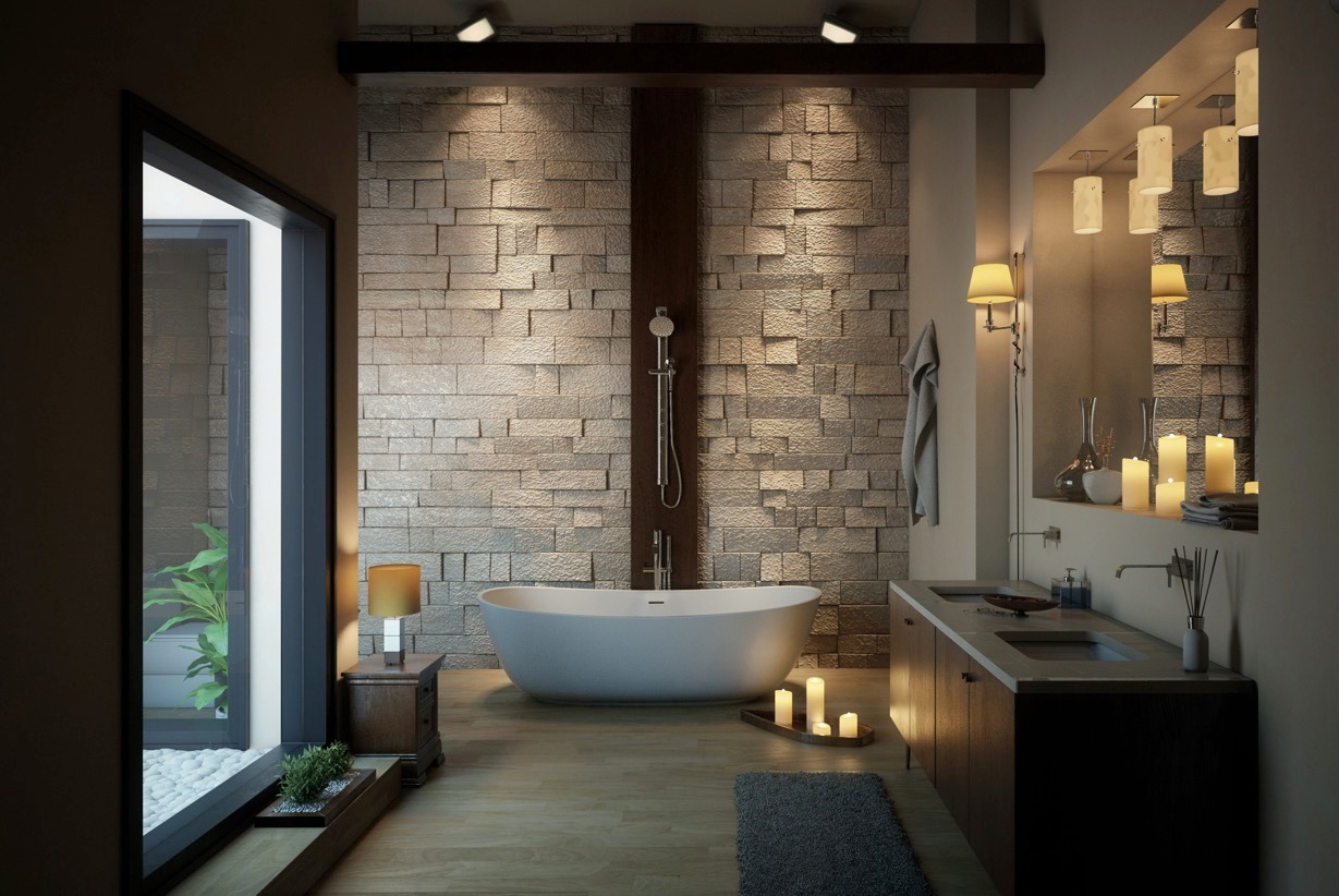 36 bathtub ideas with luxurious appeal for Decoracion de interiores banos