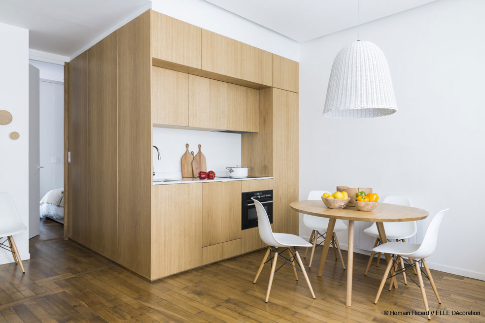 Small Kitchen Ideas - 2 small and cute french apartments under 50 square meters