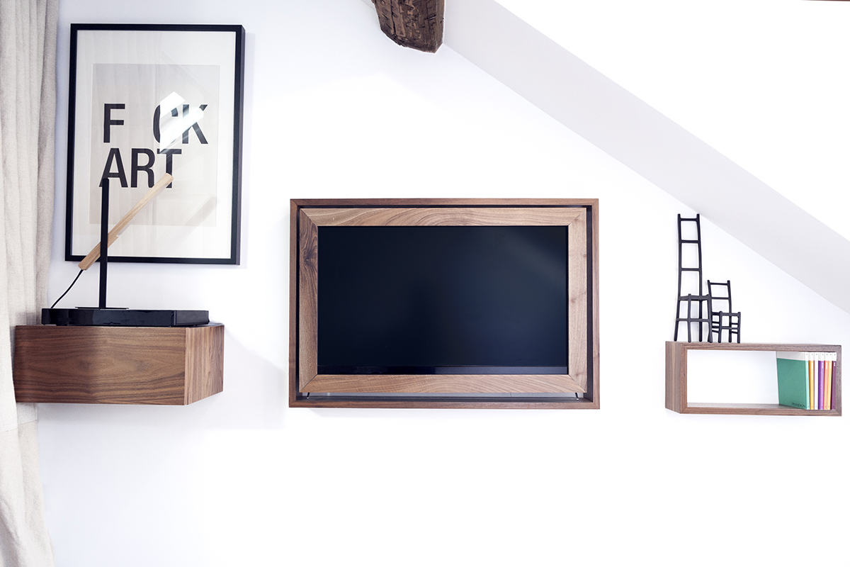 Stylish Tv Mount - 2 small and cute french apartments under 50 square meters