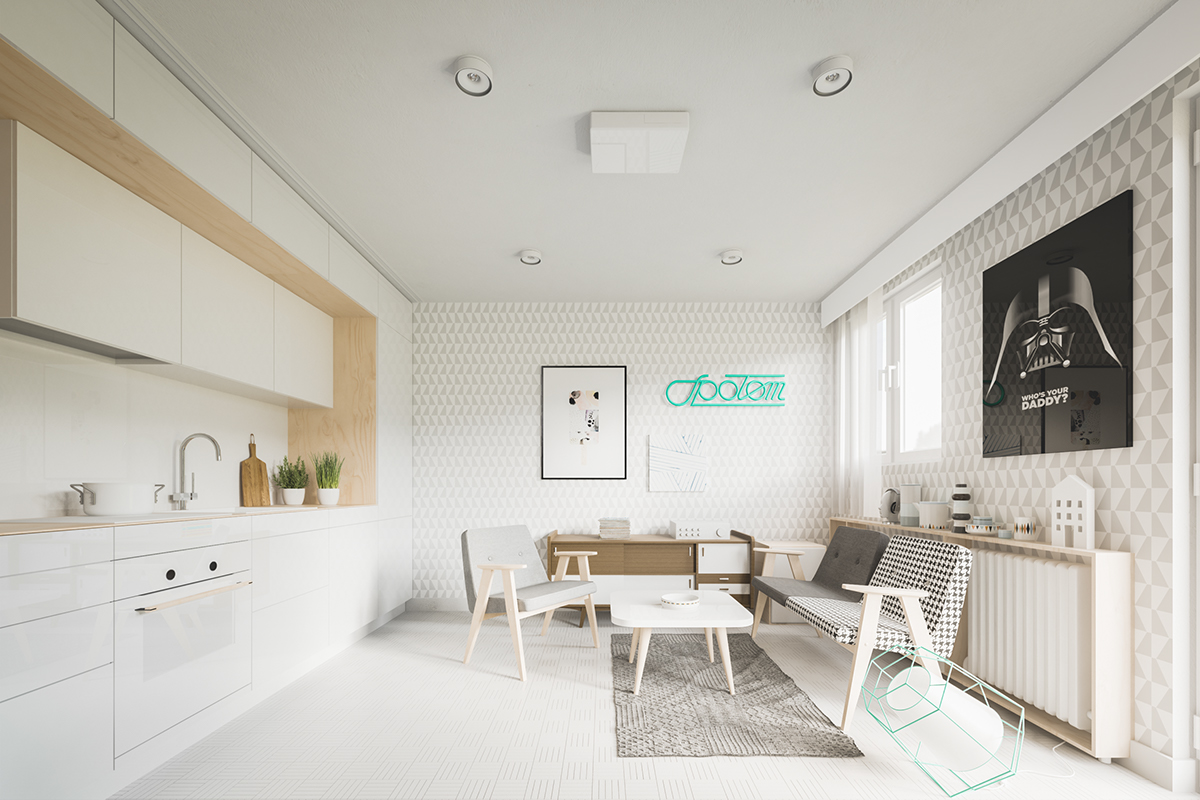 Small home designs under 50 square meters for Wohnung dizayn