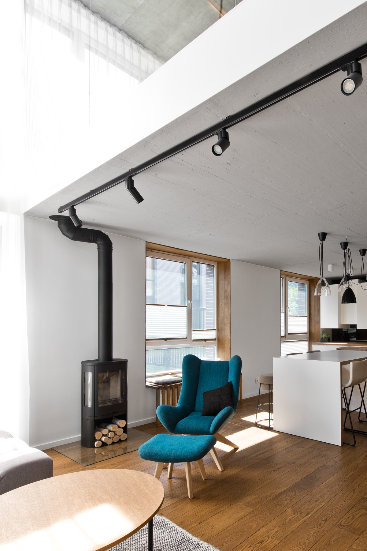 Track Lighting - Chic scandinavian loft interior