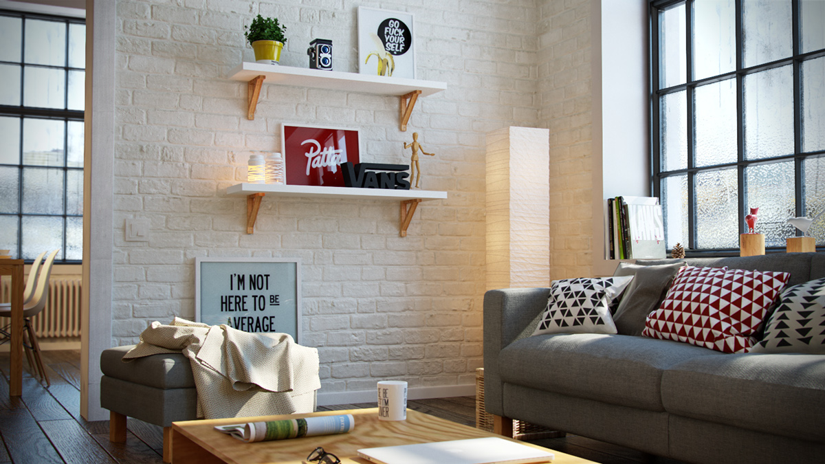 White Brick - 3 beautiful scandinavian style interiors