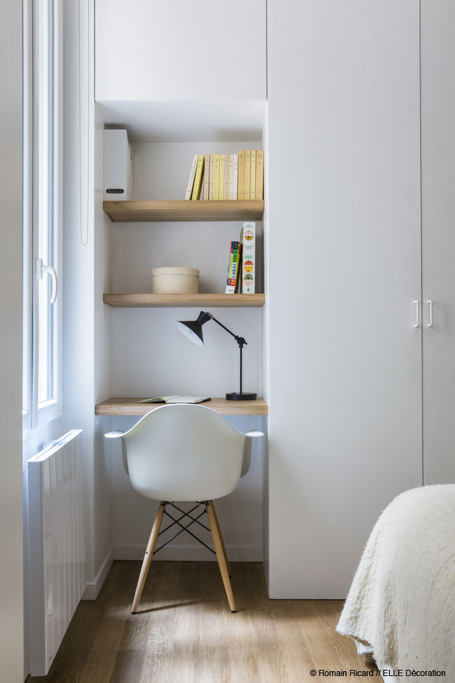 White Eames Chair - 2 small and cute french apartments under 50 square meters