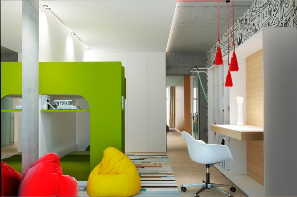 the kids room is also notable for its use of stylish color combinations and hip designs that marry the needs of the child with the desires of the parents - Hip Home Design Sites