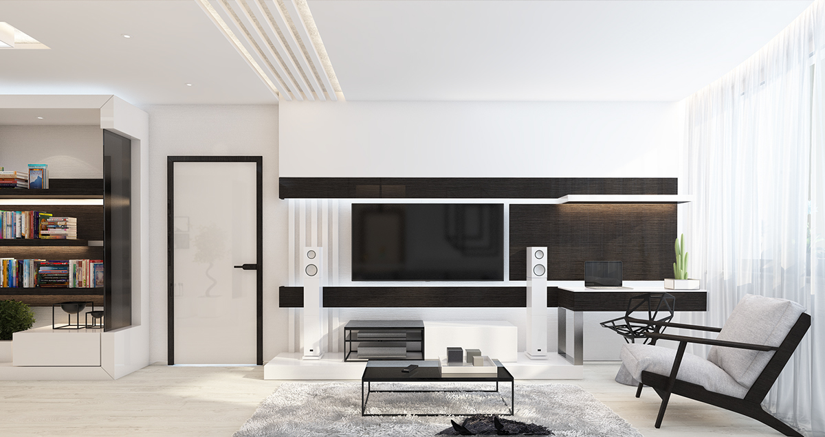 White Living Room - 4 beautiful homes with a white theme