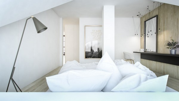 White Wood 3 Creative Interiors That Utilize Bright Accents White Wood