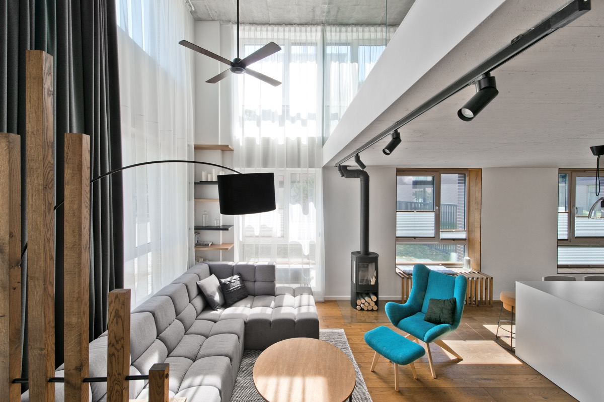 Wood Floor Loft - Chic scandinavian loft interior