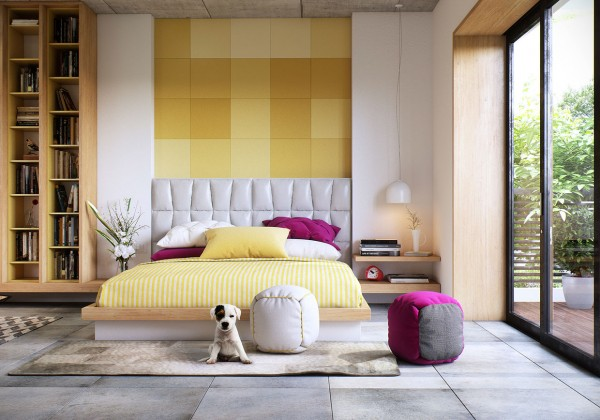 Interior and Furniture Designs: Bedroom Wall Textures Ideas ...