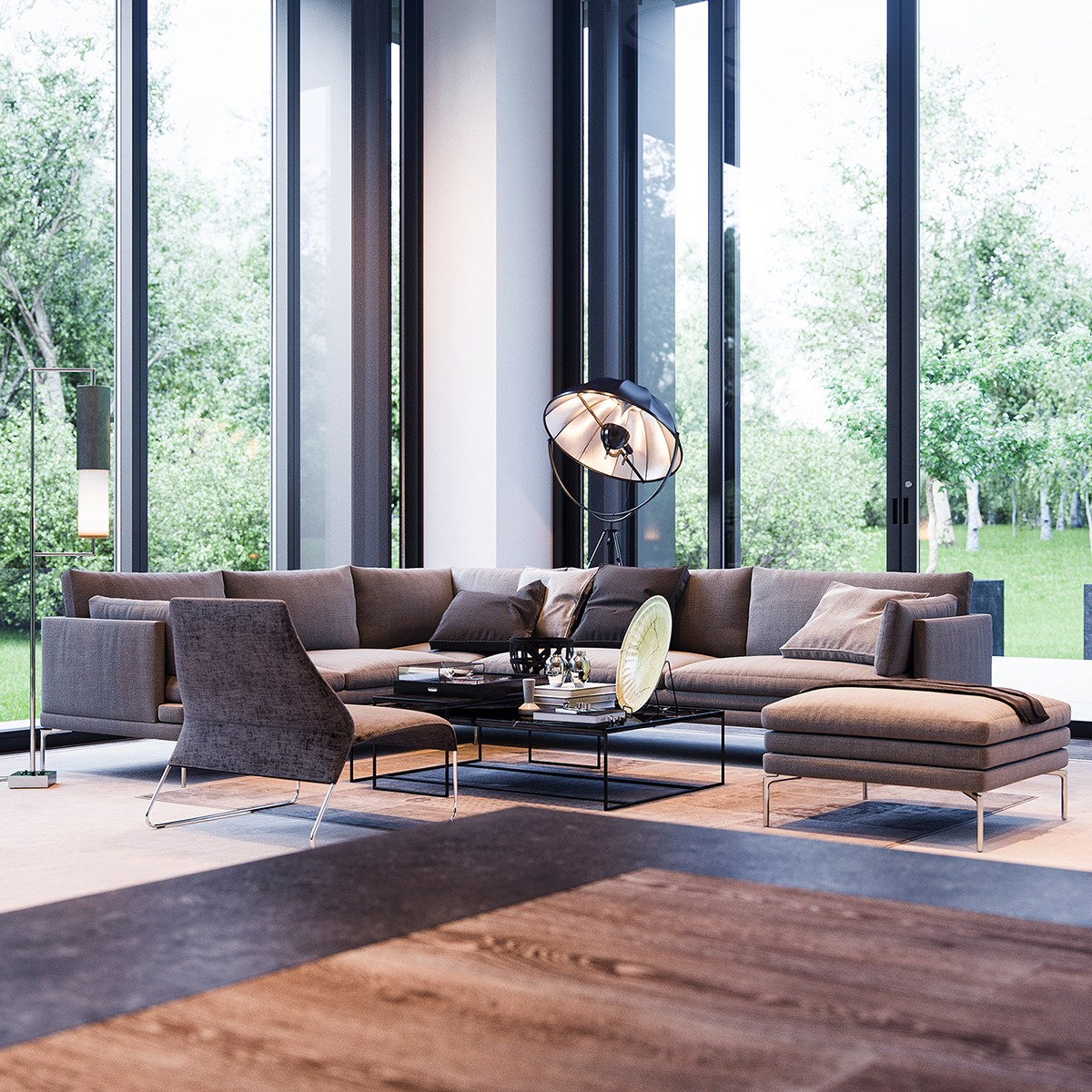 Floor To Ceiling Windows : Natural interior concepts with floor to ceiling windows