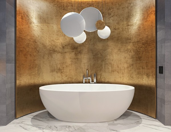 Brass Bathroom Inspiration Interior Design Ideas