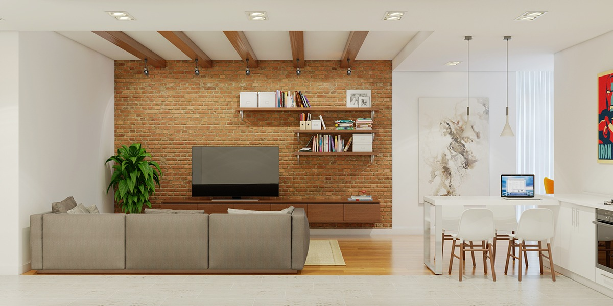 Brick Accent Wall - 3 stunning homes with exposed brick accent walls