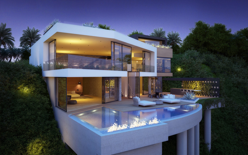 Cantilever Pool - Exceptional architecture concepts from vantage design group