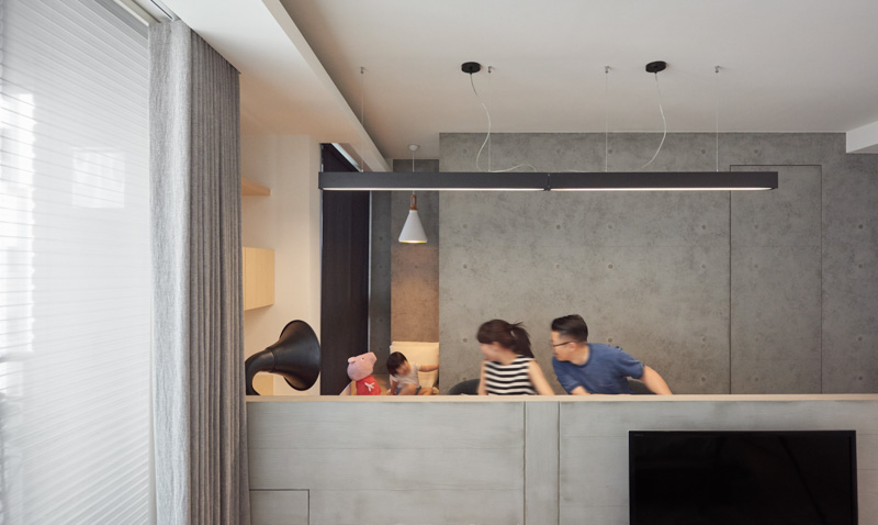 Concrete Interior Ideas - A stylish family apartment from made go design