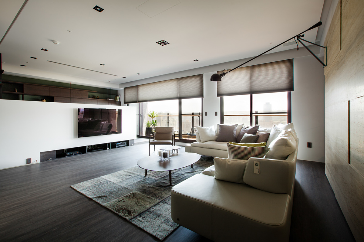 Modern Chinees Interieur : Asian interior design trends in two modern homes with floor plans