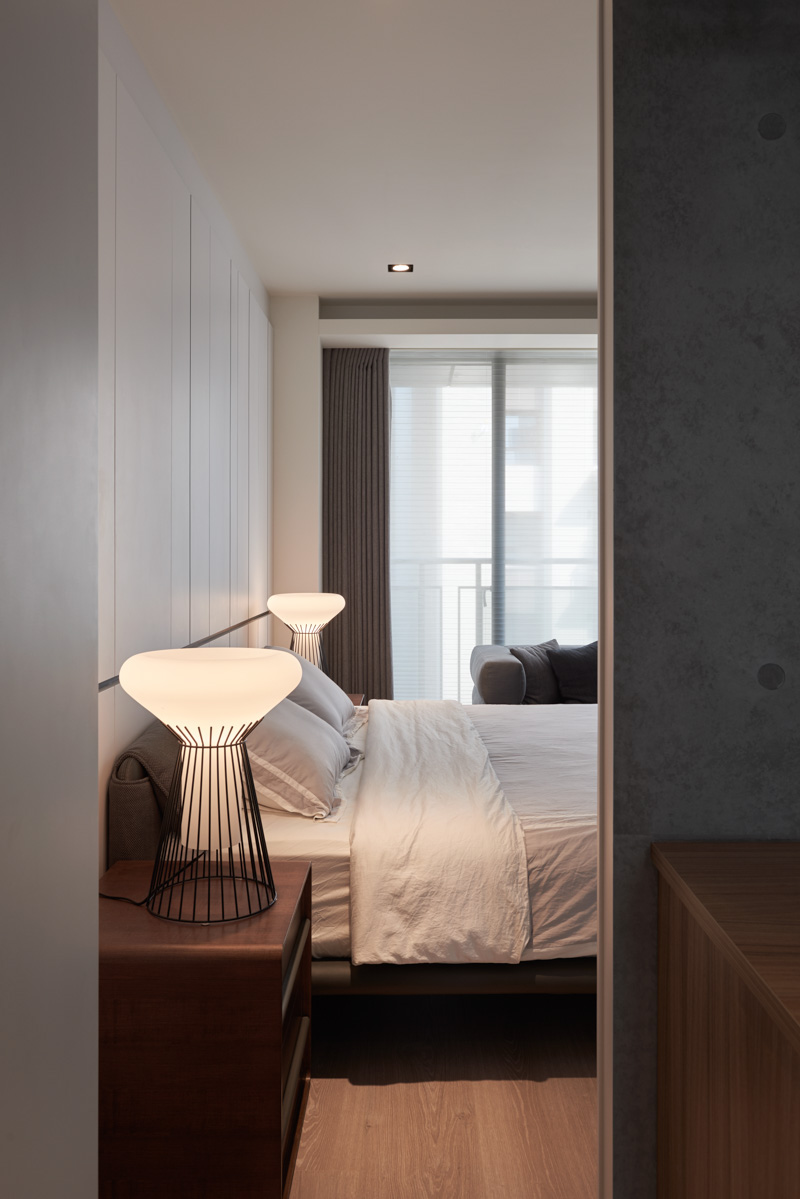 Contemporary Bedroom Lighting - A stylish family apartment from made go design