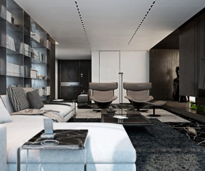 ... Three Luxurious Apartments With Dark Modern Interiors ...