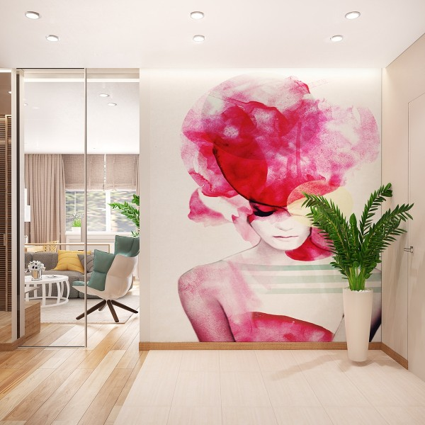 fashion-inspired accent wall