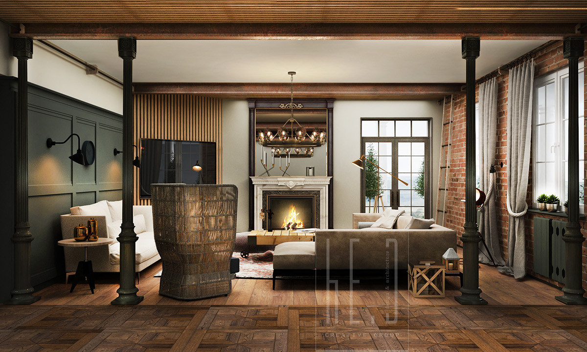 Gatsby House Interior - 3 stunning homes with exposed brick accent walls
