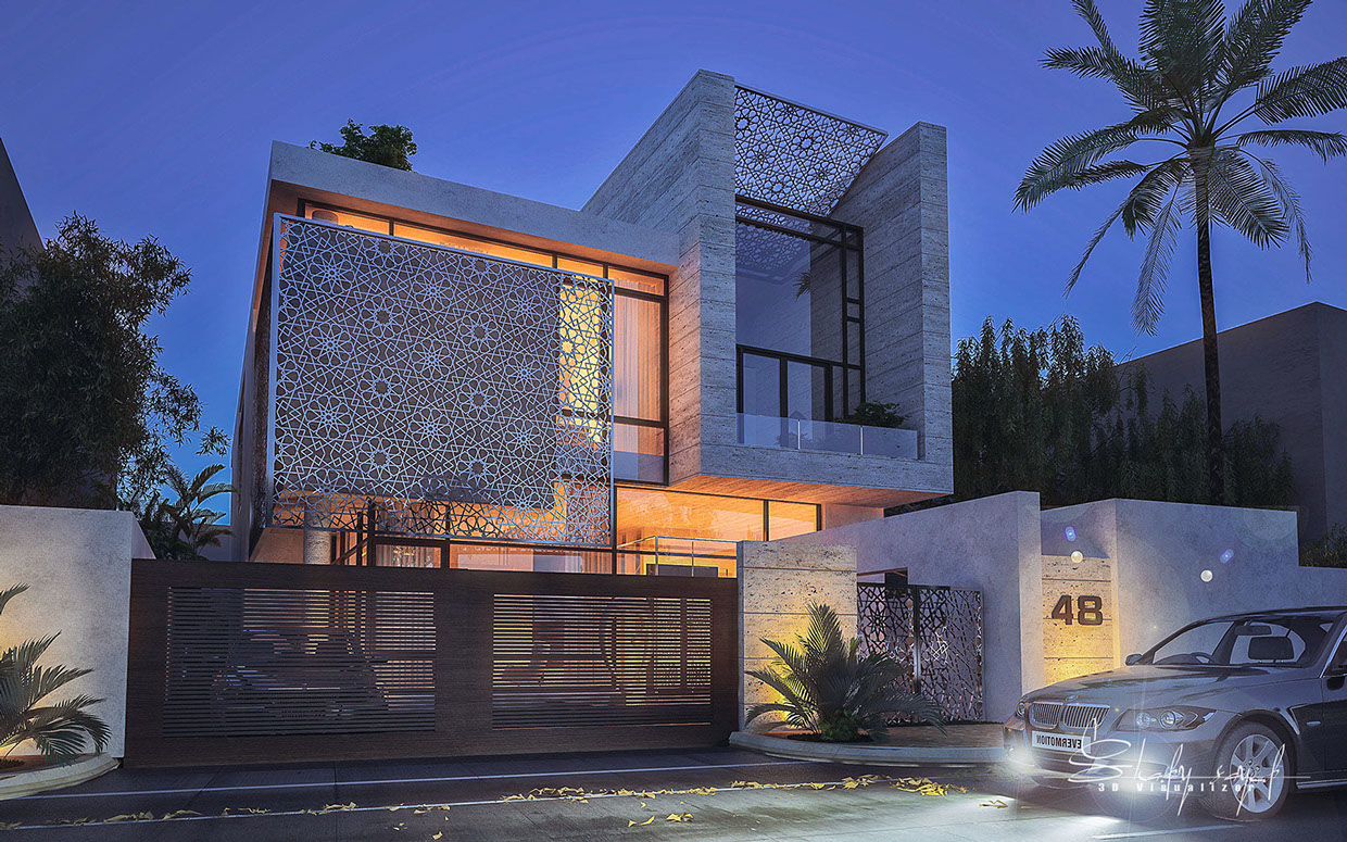 Girih architecture interior design ideas for Modern villa architecture