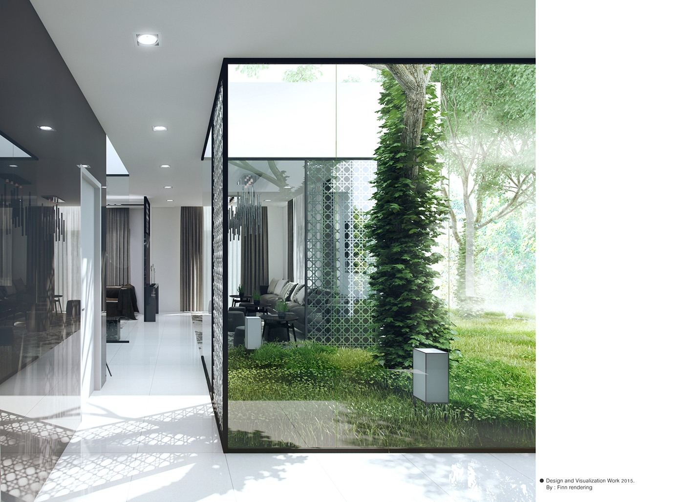 Girih Screens And Glass Walls - 3 natural interior concepts with floor to ceiling windows