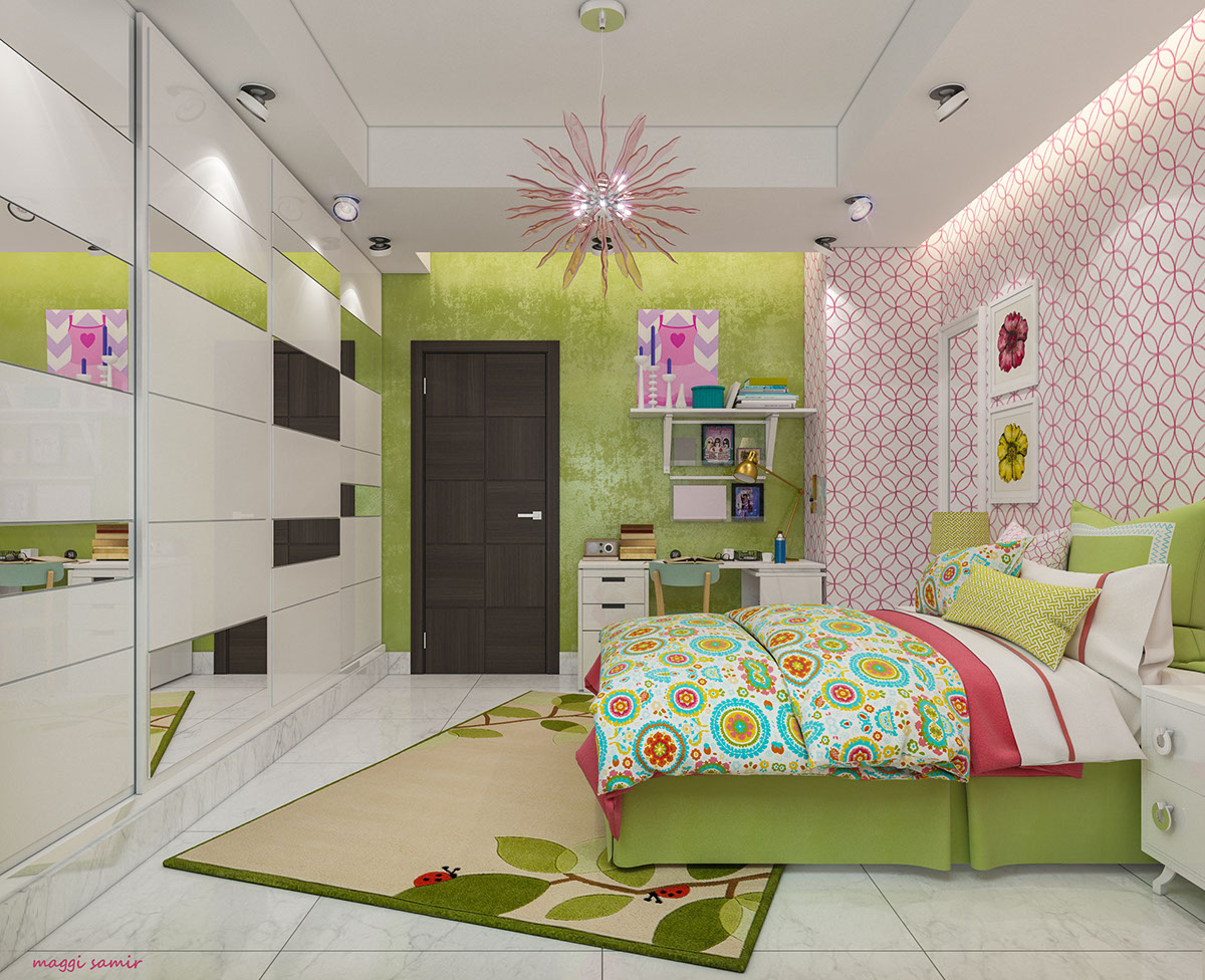 Girls Room Storage Ideas - Super colorful bedroom ideas for kids and teens