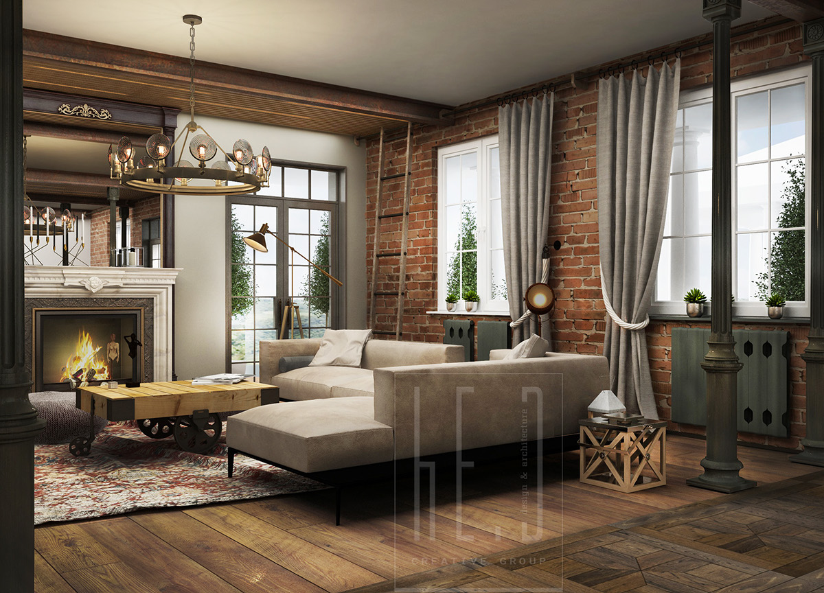 Great Gatsby Interior Decor - 3 stunning homes with exposed brick accent walls