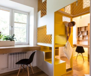 amazingly modular small family apartment with lots of playful spaces - Small House Interior Design