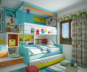 Kids Bedroom Design Ideas small space solution built in bunk beds for kids rooms Kids Room Designs These
