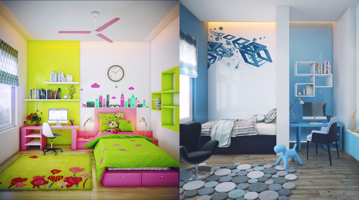Super colorful bedroom ideas for kids and teens for Children bedroom ideas