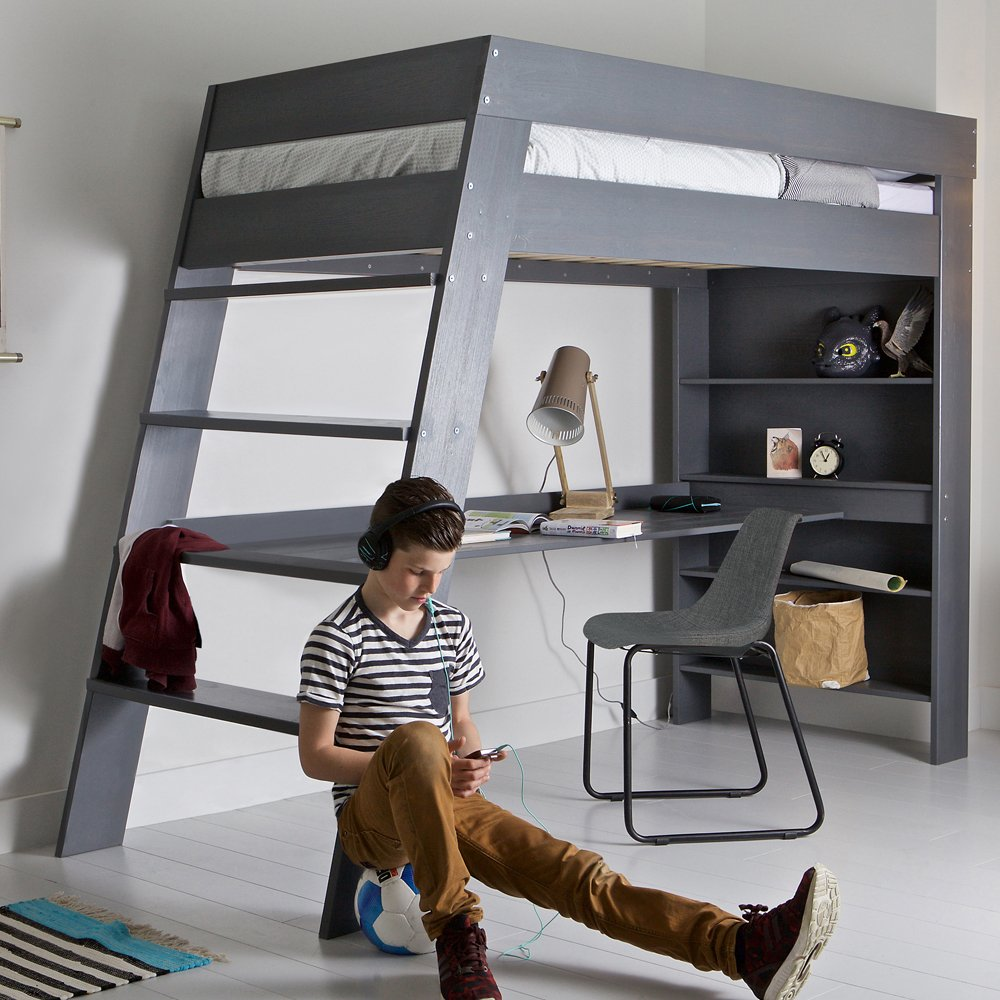 Modern loft bed with desk - Loft Bed Desk