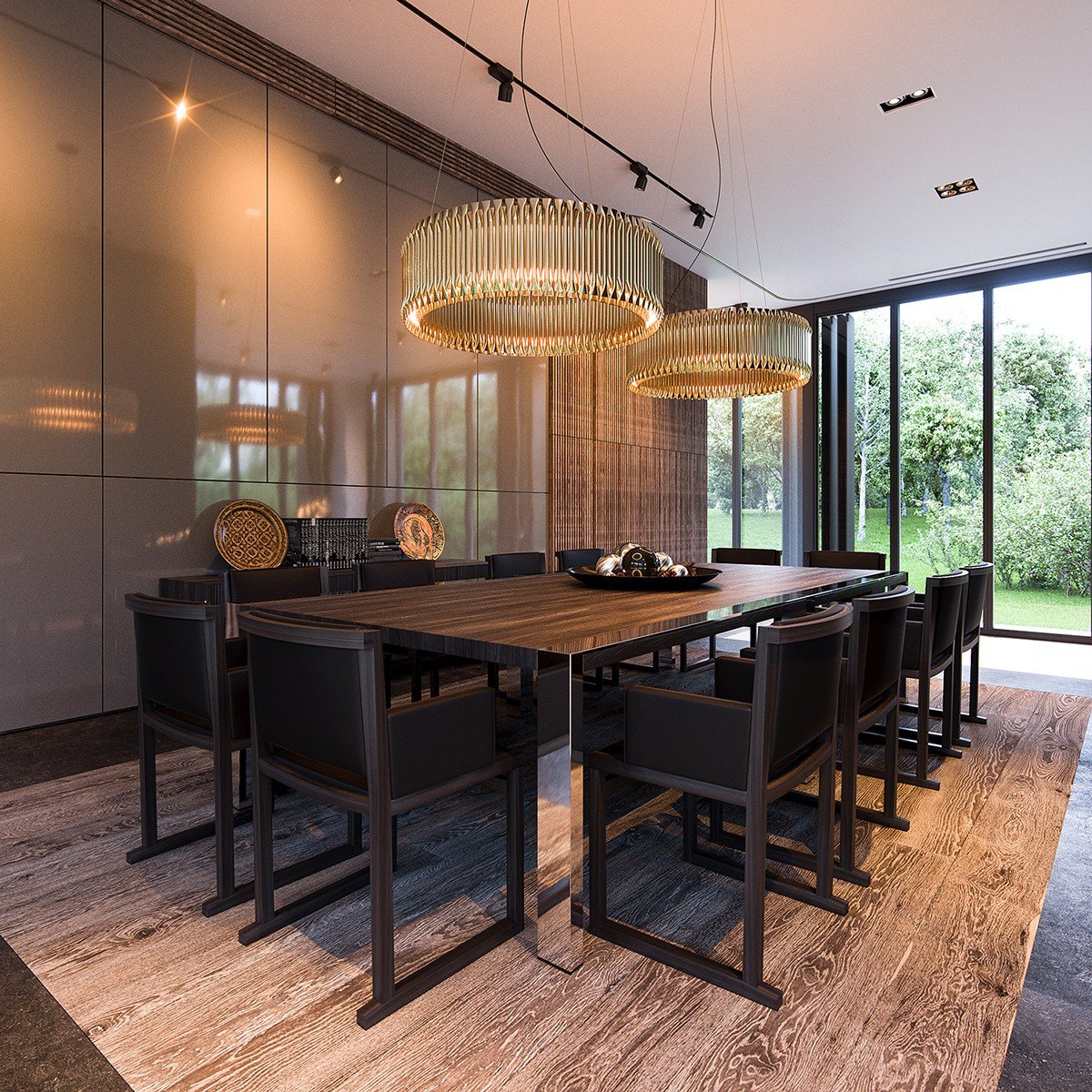 Luxury Dining With Floor To Ceiling Windows - 3 natural interior concepts with floor to ceiling windows